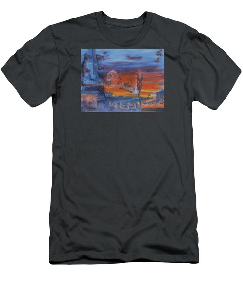 Men's T-Shirt (Slim Fit) featuring the painting A Mystery Of Gods by Steve Karol