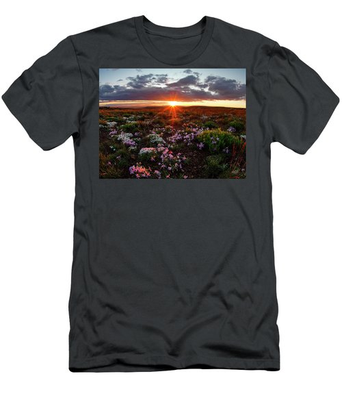 Men's T-Shirt (Slim Fit) featuring the photograph A Nuttalls Linanthastrum Morning by Leland D Howard