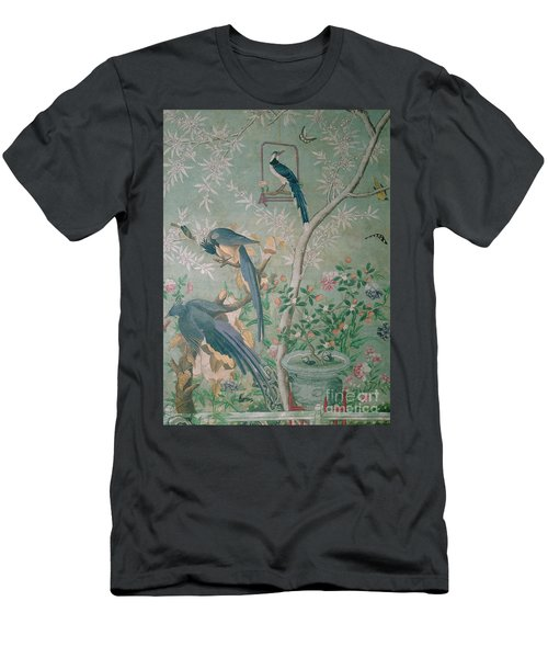 A Pair Of Magpie Jays  Vintage Wallpaper Men's T-Shirt (Slim Fit) by John James Audubon