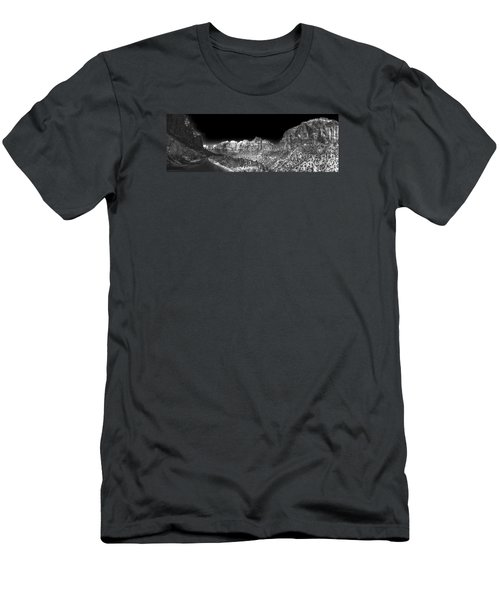 Men's T-Shirt (Slim Fit) featuring the digital art A Path Through Zion by William Fields