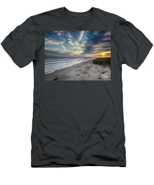 A Peaceful Beach Sunset Men's T-Shirt (Athletic Fit)
