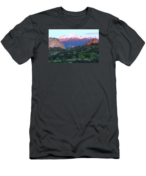 A Pikes Peak Sunrise Men's T-Shirt (Slim Fit) by Eric Glaser