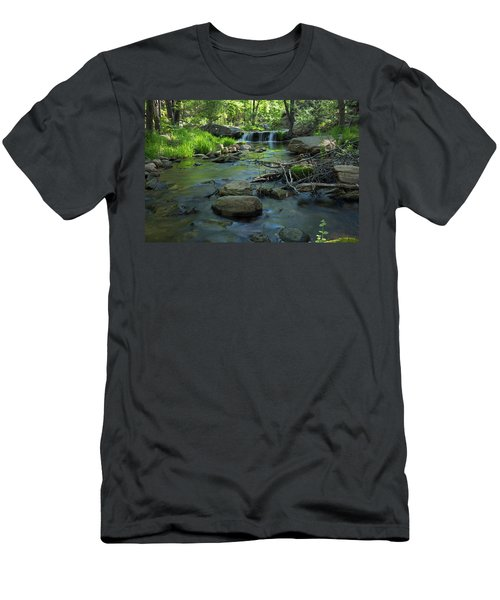 A Place Of Solitude Men's T-Shirt (Slim Fit) by Sue Cullumber