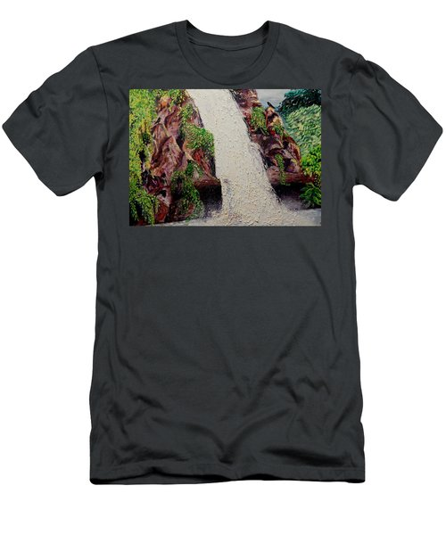 A Place To Hide Men's T-Shirt (Slim Fit) by Lisa Rose Musselwhite