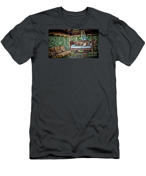 A Place To Retreat Men's T-Shirt (Slim Fit) by Pamela Blizzard