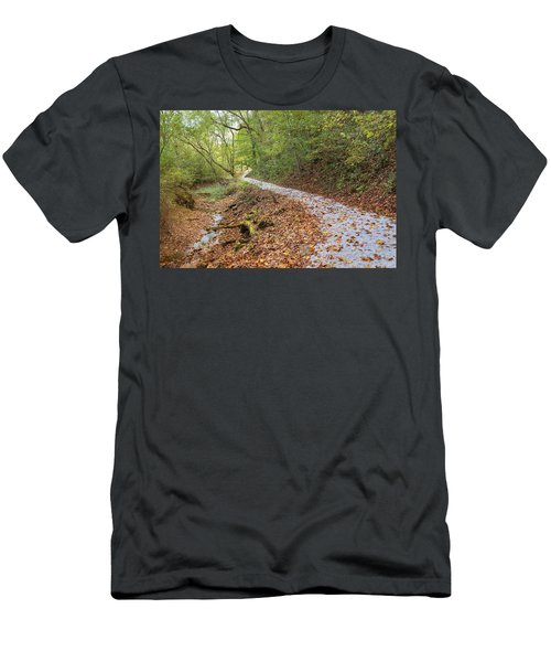 Men's T-Shirt (Athletic Fit) featuring the photograph A Pleasant Walk by John M Bailey