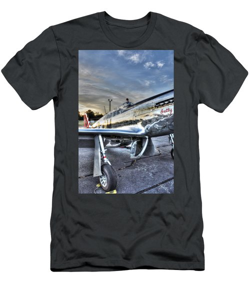 A Reflective Mustang Men's T-Shirt (Slim Fit) by David Collins