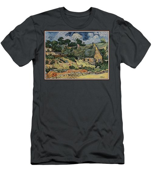 a replica of the landscape of Van Gogh Men's T-Shirt (Slim Fit) by Pemaro