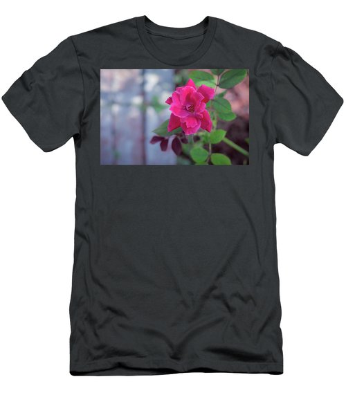 A Rose And A Hard Place Men's T-Shirt (Slim Fit) by Stefanie Silva
