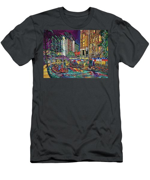 Men's T-Shirt (Slim Fit) featuring the painting A San Antonio Christmas by Patti Schermerhorn