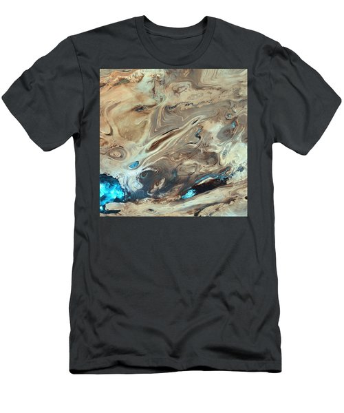 A Satellite Picture Of The Dasht-e Kavir Desert In Iran. Men's T-Shirt (Athletic Fit)