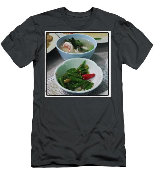 Men's T-Shirt (Athletic Fit) featuring the photograph A Side Of Tom Yum Goon With Your by Mr Photojimsf