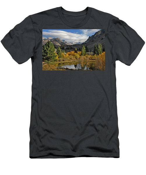 A Sierra Mountain View Men's T-Shirt (Slim Fit) by Dave Mills