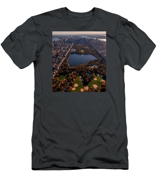 Men's T-Shirt (Slim Fit) featuring the photograph A Slice Of New York City  by Anthony Fields