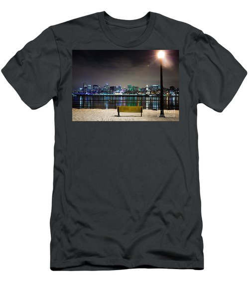A Snowy Night In Montreal  Men's T-Shirt (Athletic Fit)