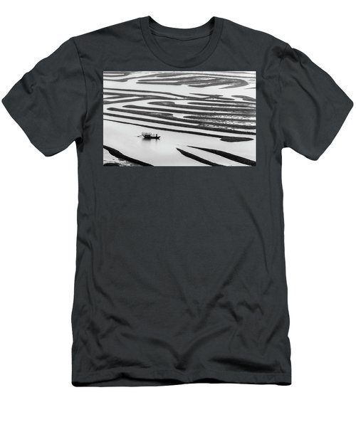 A Solitary Boatman. Men's T-Shirt (Athletic Fit)