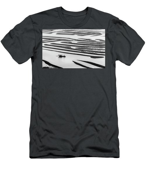A Solitary Boatman. Men's T-Shirt (Athletic Fit)