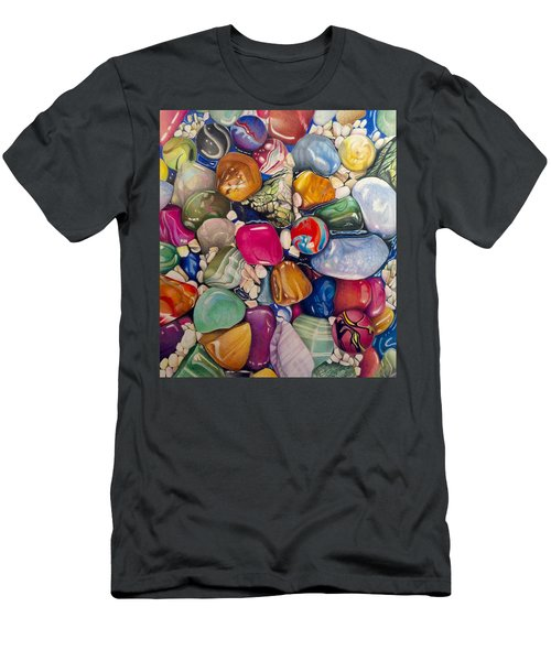 A Splash Of Color And Hardness Men's T-Shirt (Athletic Fit)