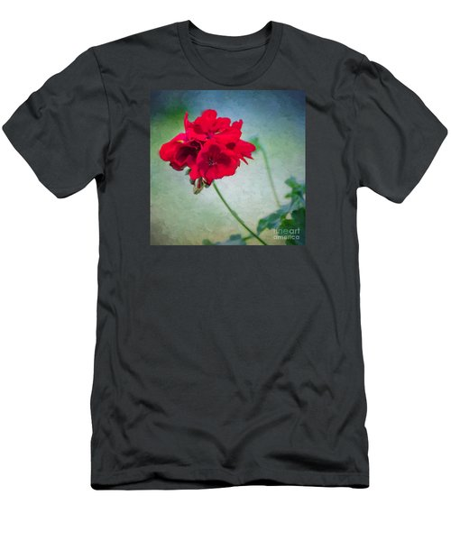 Men's T-Shirt (Slim Fit) featuring the photograph A Splash Of Red by Betty LaRue