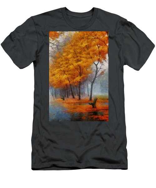 A Stand For Autumn Men's T-Shirt (Slim Fit) by Mario Carini