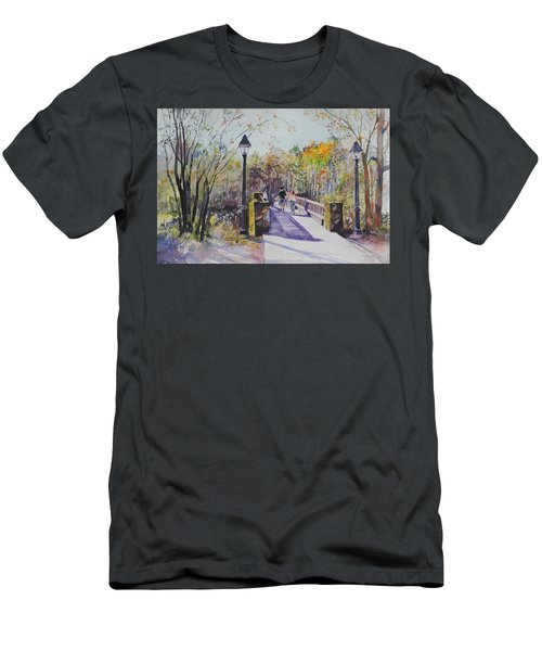 A Stroll On The Bridge Men's T-Shirt (Slim Fit) by P Anthony Visco