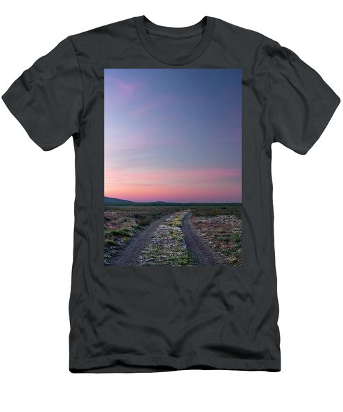 Men's T-Shirt (Slim Fit) featuring the photograph A Sunrise Path by Leland D Howard