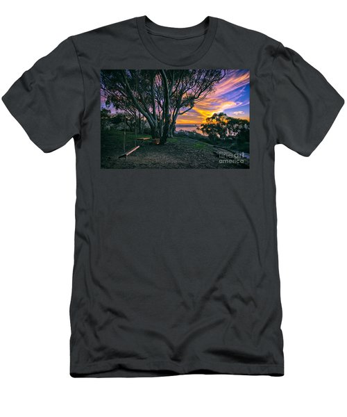 A Swinging Sunset From The Secret Swings Of La Jolla Men's T-Shirt (Athletic Fit)
