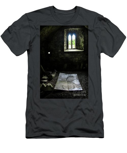 Men's T-Shirt (Slim Fit) featuring the photograph A Tombstone In Sligo Abbey by RicardMN Photography