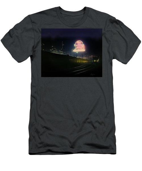 A Train's A Comin' 1948 Men's T-Shirt (Slim Fit) by J Griff Griffin
