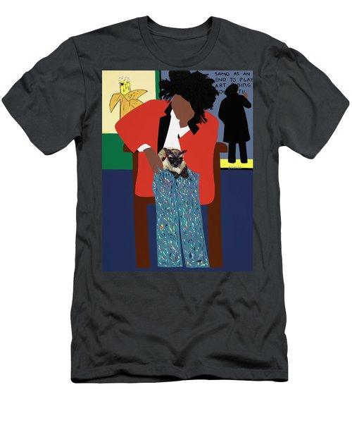 A Tribute To Jean-michel Basquiat Men's T-Shirt (Athletic Fit)