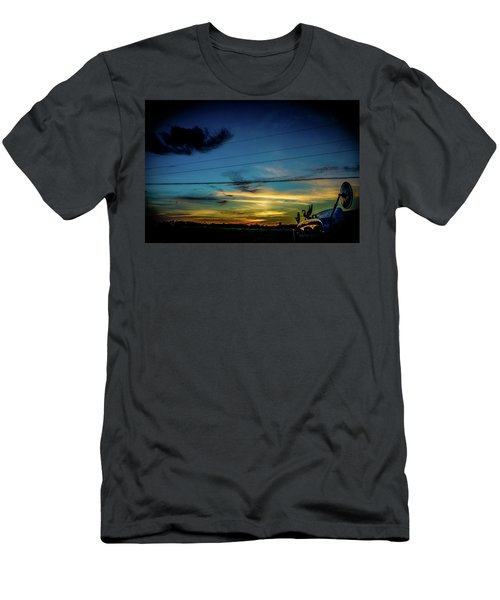 Men's T-Shirt (Athletic Fit) featuring the photograph A Trucker's View by Tyson Kinnison