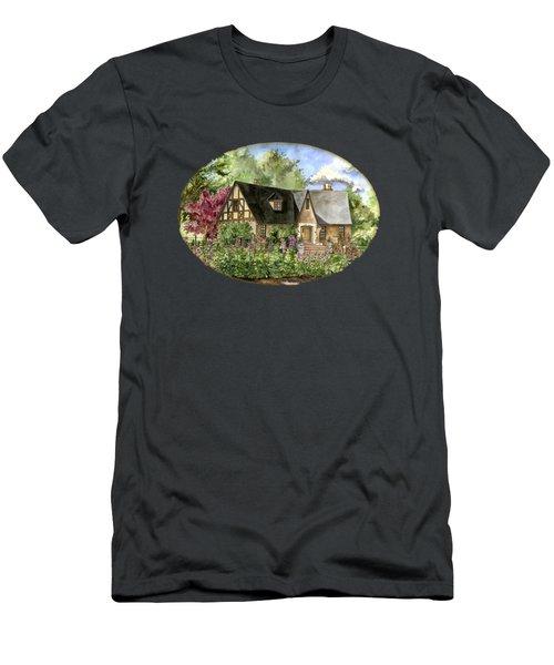 A Tudor Cottage In Summer Men's T-Shirt (Athletic Fit)