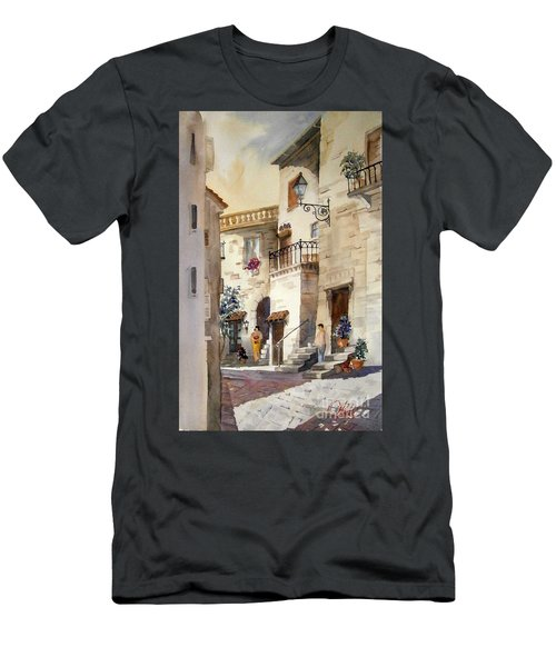 A Tuscan Street Scene Men's T-Shirt (Athletic Fit)