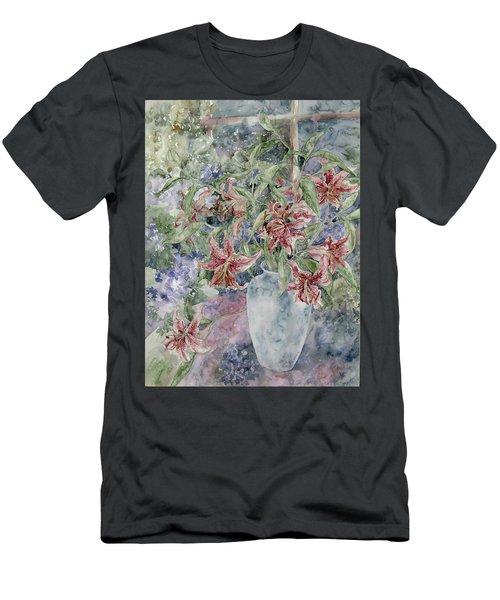 A Vase Of Lilies Men's T-Shirt (Athletic Fit)