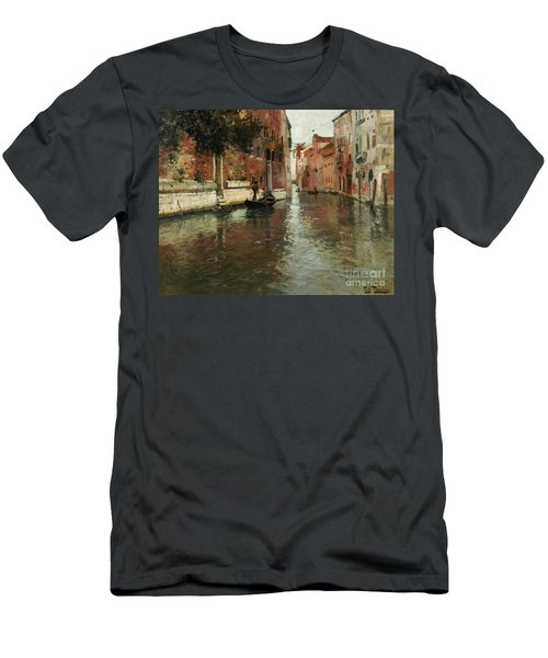 A Venetian Backwater  Men's T-Shirt (Athletic Fit)