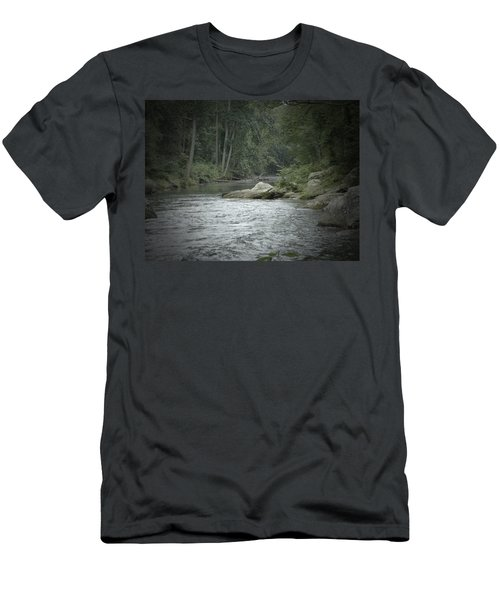 A View Downstream Men's T-Shirt (Slim Fit) by Donald C Morgan