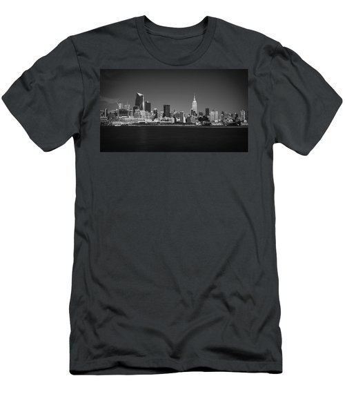 Men's T-Shirt (Slim Fit) featuring the photograph A View From Across The Hudson by Eduard Moldoveanu
