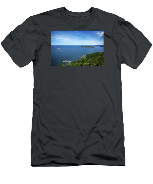 A View From Sugarloaf Mountain Men's T-Shirt (Slim Fit) by Dan Hefle