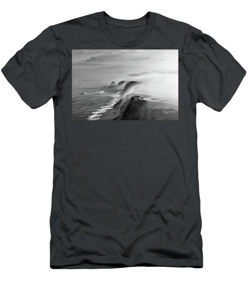 A View Of Gods Men's T-Shirt (Slim Fit) by Jorge Maia