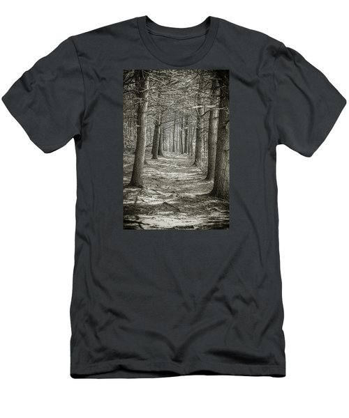Men's T-Shirt (Slim Fit) featuring the photograph A Walk In Walden Woods by Ike Krieger
