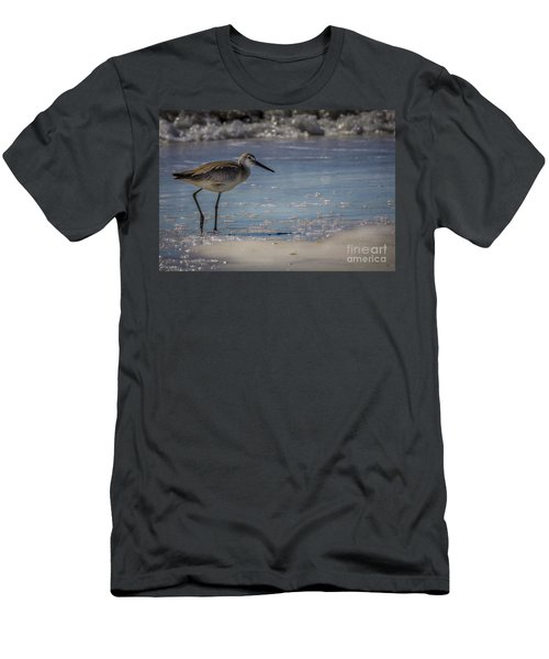 A Walk On The Beach Men's T-Shirt (Slim Fit) by Marvin Spates
