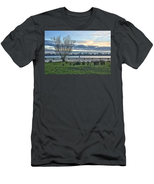 A Walk Through The Lake Men's T-Shirt (Athletic Fit)