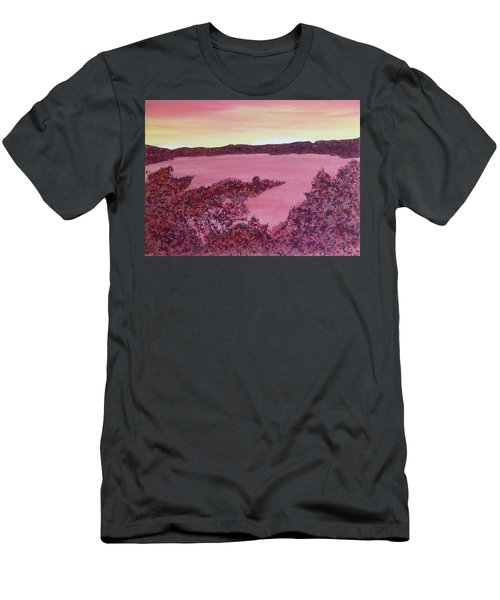 Men's T-Shirt (Athletic Fit) featuring the painting A Wee Bit O Heaven  by Joel Deutsch