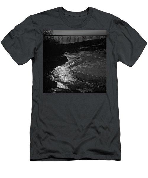 A Winter River Men's T-Shirt (Athletic Fit)