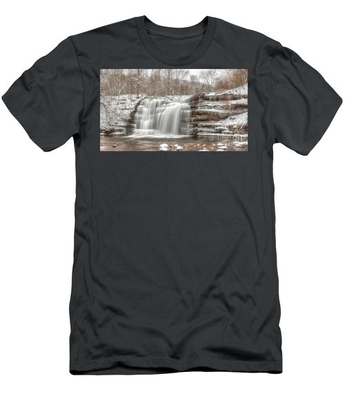 A Winter Waterfall - Color Men's T-Shirt (Athletic Fit)