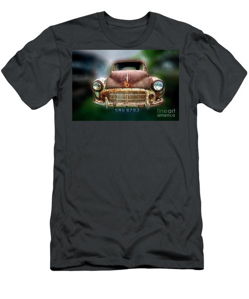 Men's T-Shirt (Slim Fit) featuring the photograph Abandoned Car by Charuhas Images