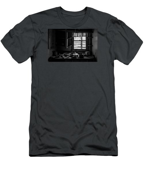 Men's T-Shirt (Slim Fit) featuring the photograph Abandoned Kitchen by Dan Traun