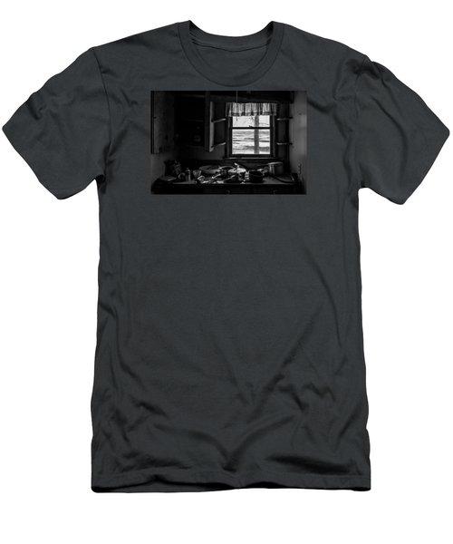Abandoned Kitchen Men's T-Shirt (Slim Fit) by Dan Traun