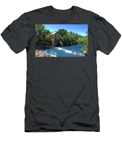Men's T-Shirt (Slim Fit) featuring the photograph Abandoned Mill At Cedar Point by Rod Seel
