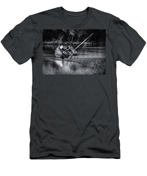 Abandoned Ship In Monochrome Men's T-Shirt (Athletic Fit)